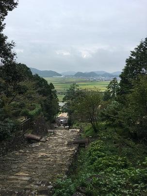 安土城大手道からの景色