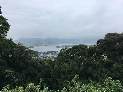 安土城天主台からの西の湖