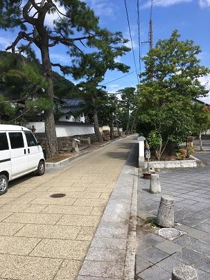竹田駅裏手の登山道までの道