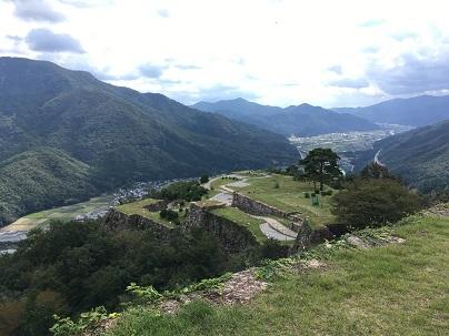 竹田城天守台からの景色