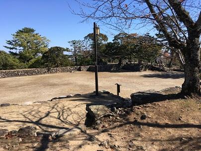 松坂城天守台からの景色