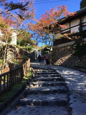 犬山城へ続く坂道
