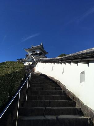 掛川城天守まで登る道
