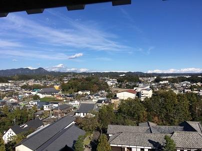 掛川城天守からの景色