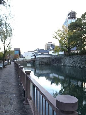 駿府城近くの道路からの巽櫓