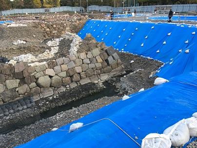 駿府城天守発掘調査中の様子