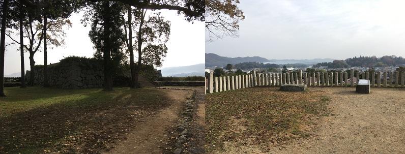 篠山城天守台からの景色