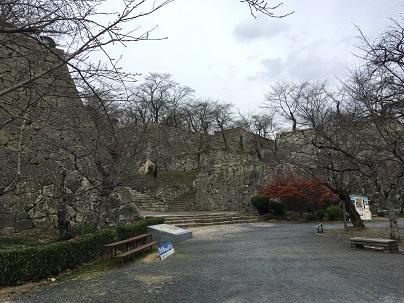 津山城何重にも重なる石垣