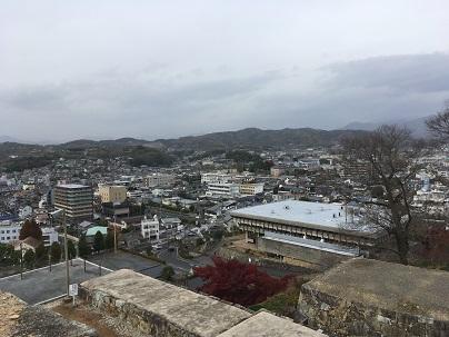 津山城天守台からの景色