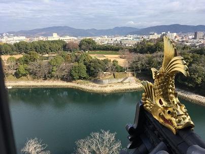 岡山城天守からの景色