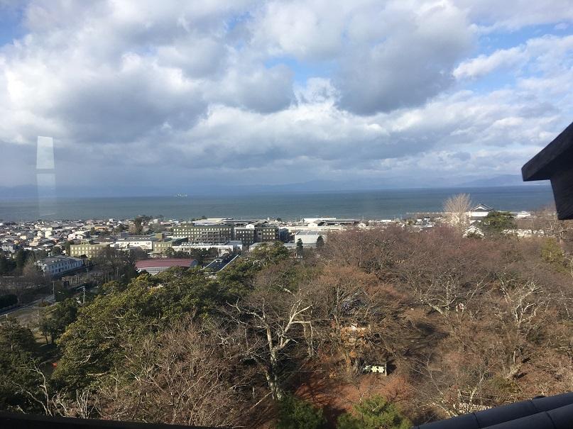 彦根城天守からの景色