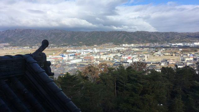 伊賀上野城天守からの景色