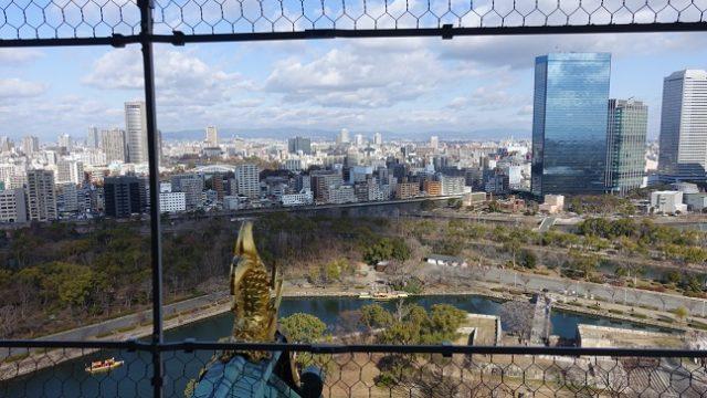 大阪城天守からの景色