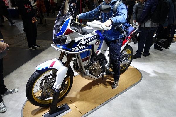 大阪モーターサイクルショーホンダーブースCRF1000AL AfricaTwin