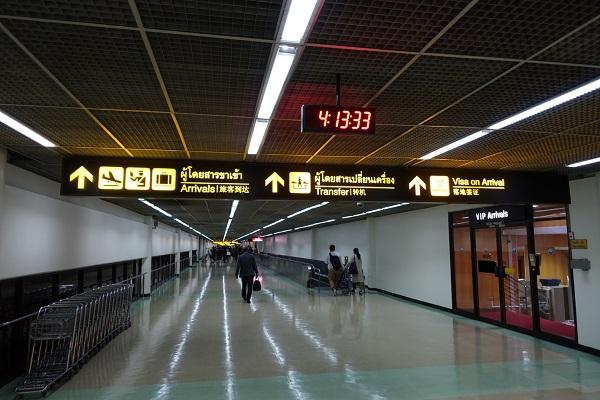 ドンムアン空港到着通路