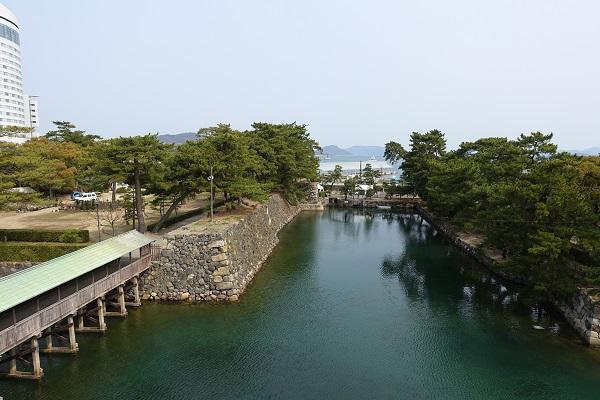 高松城天守閣跡からの景色