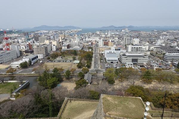 丸亀城天守からの景色