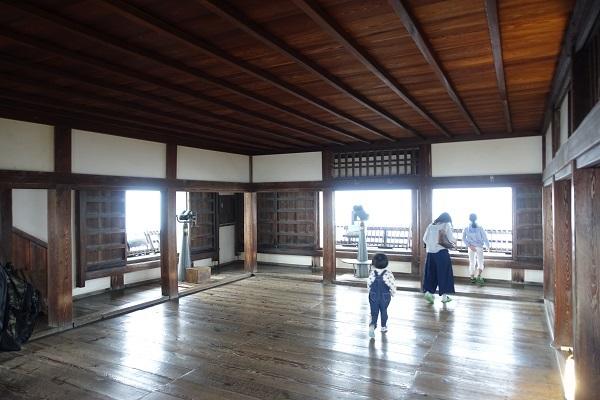 松山城天守最上階内部