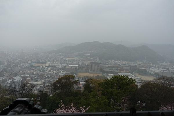 松山城天守からの景色