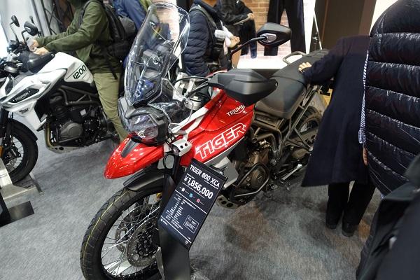 大阪モーターサイクルショー2019TriumpブースTIGER800XCA