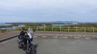 三重ツーリング-桐垣展望台でバイク