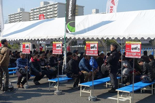 大阪モーターサイクルショー2019試乗待ちZ1000