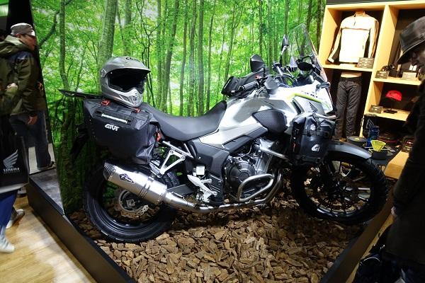 大阪モーターサイクルショーホンダブース500Xアドベンチャーカスタム