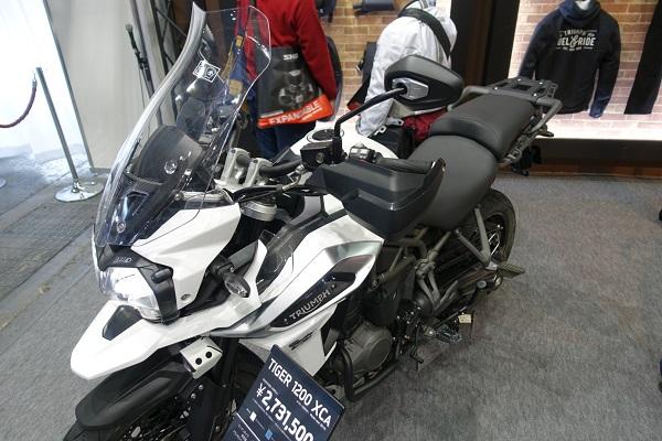 大阪モーターサイクルショー2019TriumpブースTIGER1200XCA