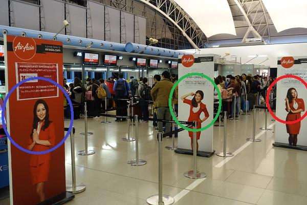 関西国際空港-エアアジアチェックイン