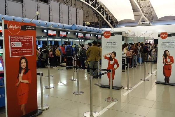 関西国際空港エアアジアカウンター