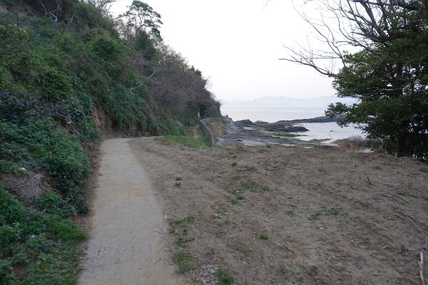 上和田緑地キャンプ場かれい広場とくじら広場の間の道