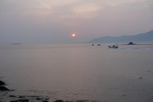 大角海浜公園キャンプ場から見える夕焼け
