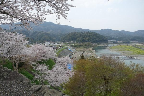 大洲城本丸からの景色