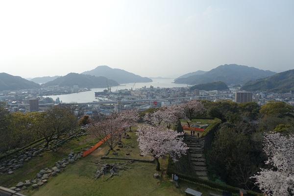 宇和島城天守からの景色
