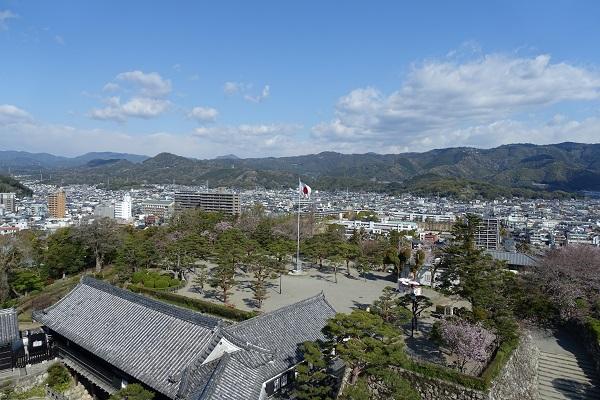 高知城天守からの景色