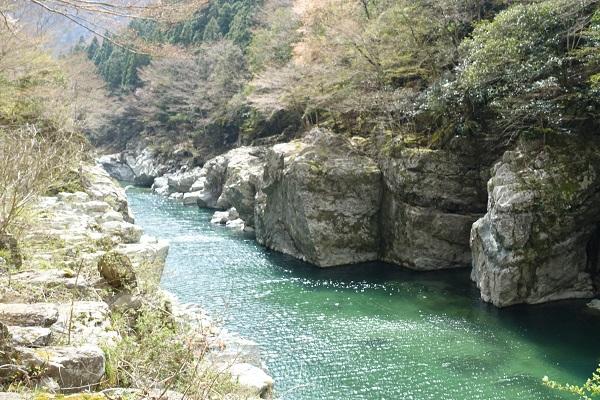 大歩危の吉野川