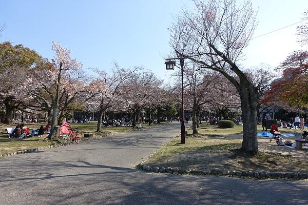 徳島城跡公園部分