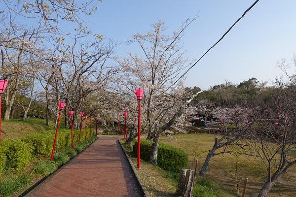 平草原公園の遊歩道