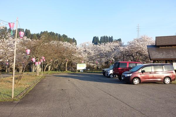 上和田緑地キャンプ場駐車場①