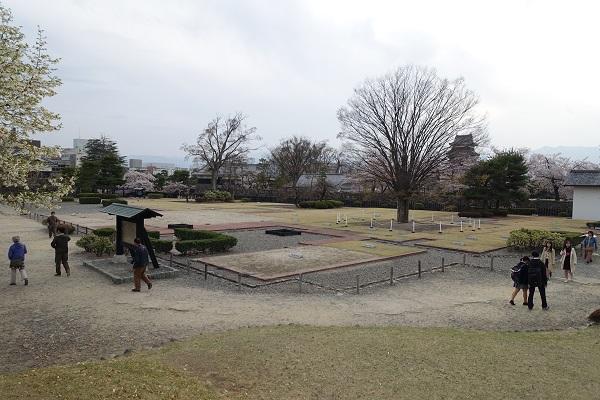 松本城二の丸御殿跡