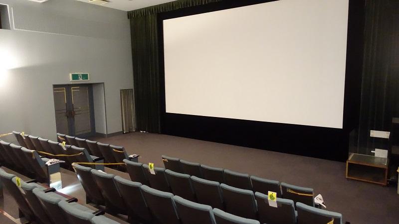 青葉城資料展示館内の映像室