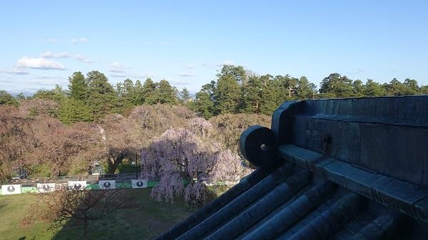 弘前城天守からの景色