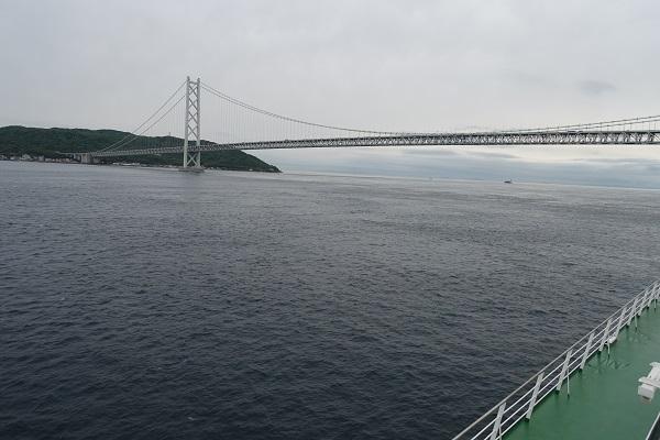 名門大洋フェリーからみる明石海峡大橋1