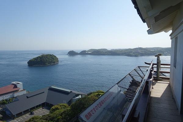 平戸城天守からの景色