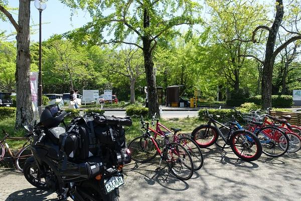 福岡城舞鶴公園駐輪場
