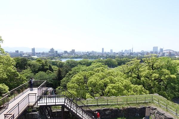福岡城天守台からの景色
