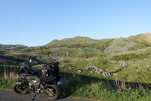 平尾台とバイク