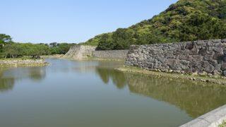 萩城天守台跡と内堀