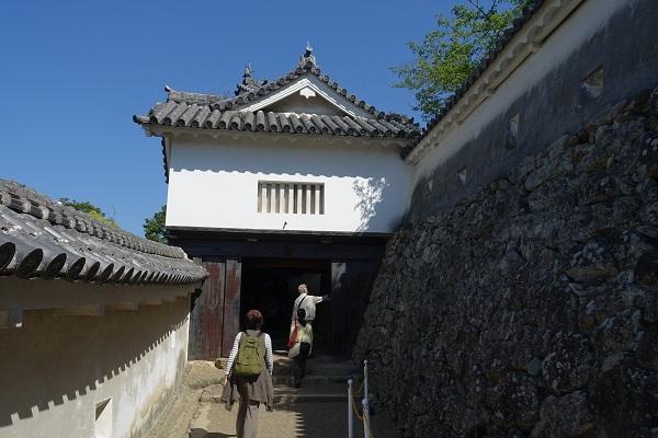 姫路城にの門