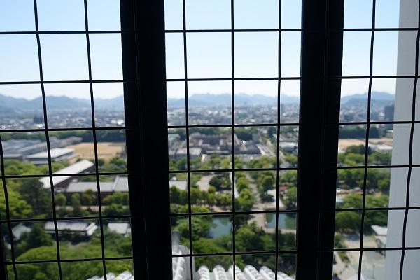 姫路城天守からの景色